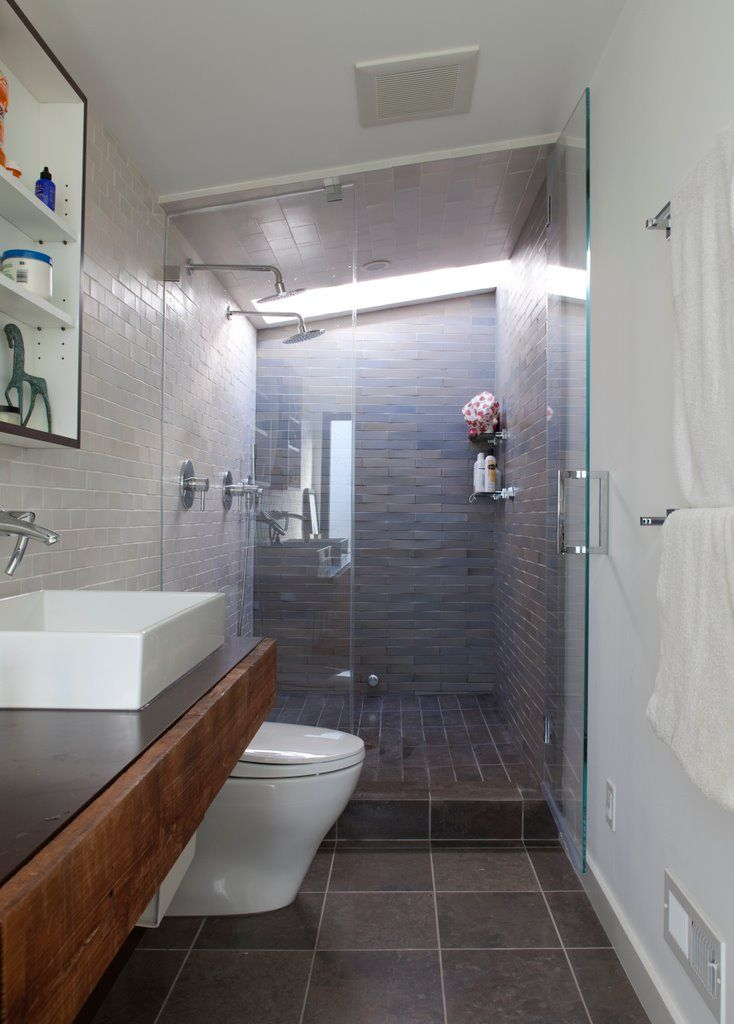 17 best ideas about Long Narrow Bathroom