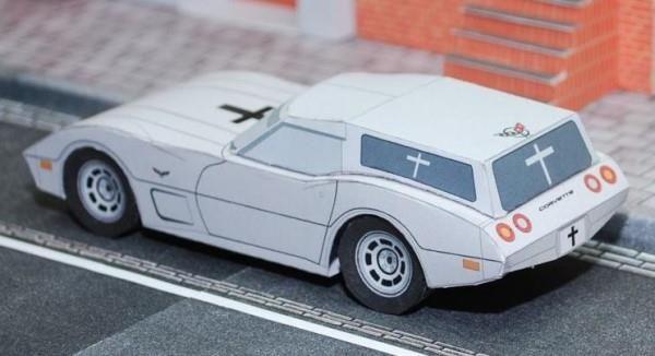 Corvette Hearse And Cadillac Fleedwood 1982 Paper Models