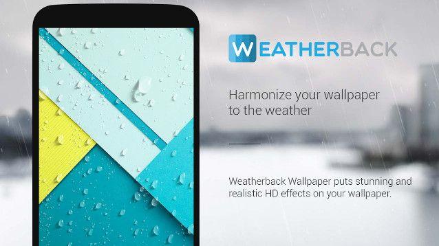 """Da oggi, è possibile informarsi sulle condizioni meteo che vi aspettano senza dover occupare l'HomeScreen del vostro device con un widget ad hoc: """"WeatherBack Weather Wallpaper"""" utilizzerà lo sfondo per tenervi aggiornati"""