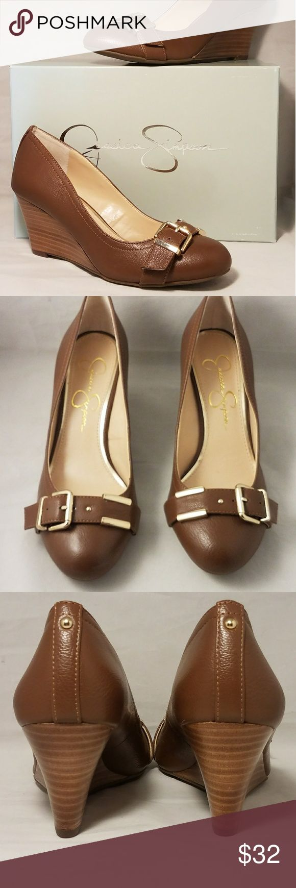 """JESSICA SIMPSON WEDGED HEEL SHOE Offering a brand new in box pair of Jessica Simpson WEDGED HEEL Shoes . Color is Stanwick Bourbon  Size is 6 medium  3"""" WEDGED heel   ✔ AVAILABLE  🚫TRADES 🚫HOLDS 💰SAVE 10% 2x ITEMS 📦 NEXT DAY    Jessica Simpson Shoes Wedges"""
