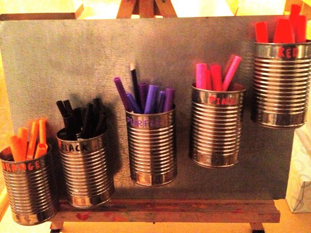 Reggio Emilia: Color cups with magnets, take off and use