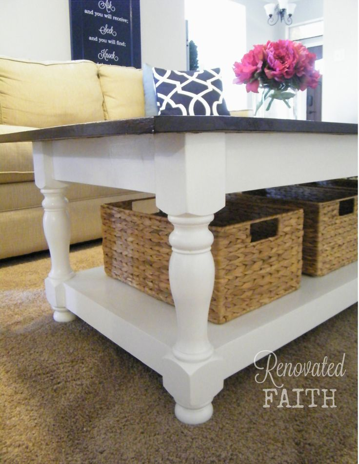 DIY Turned Leg Coffee Table And A Word About Transparency We Built This By Combining Some Ana White Plans