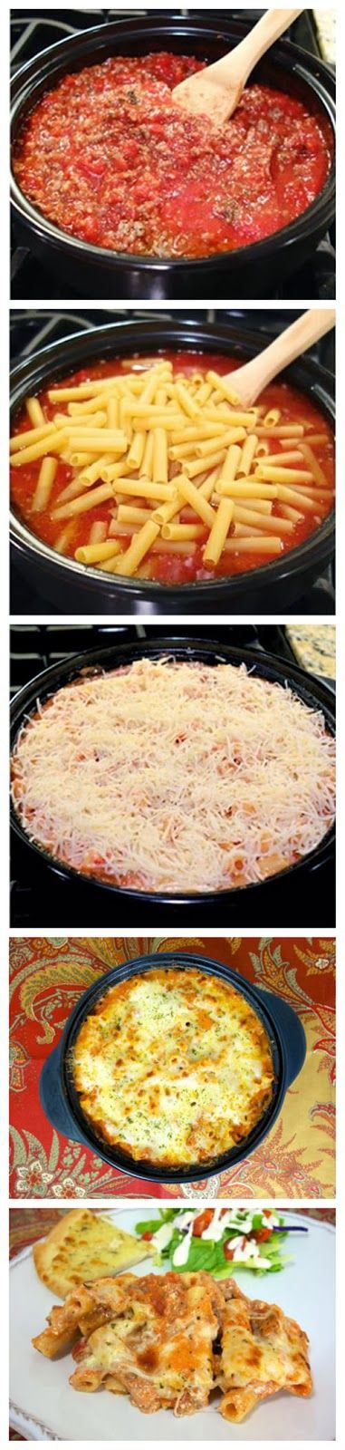 One-Pot Baked Ziti-use more ricotta cheese and tomatoes next time