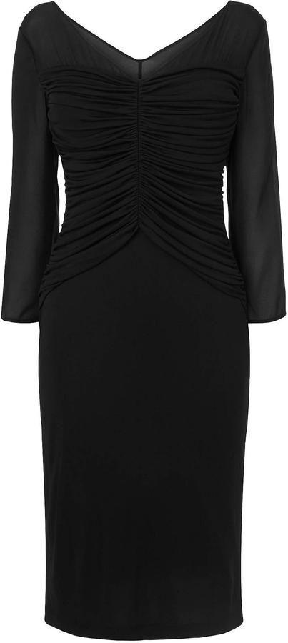 LK Bennett Anis Sheer Sleeve Dress - little black dress