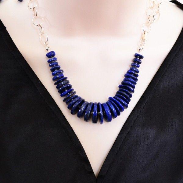 Indigo Lapis Lazuli & 925 Silver SET - Polyanna