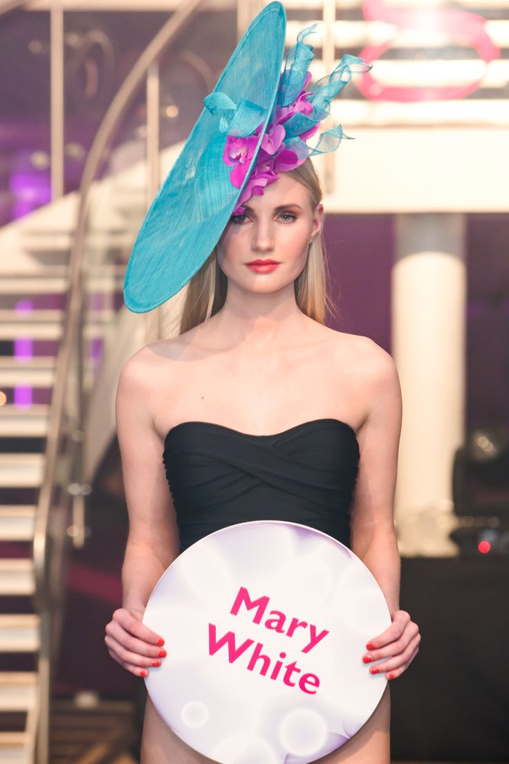 Mary White Millinery on show at Glamour at the g - June 2014.