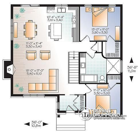 27 best Plans de maisons images on Pinterest | Homes, Garage plans ...