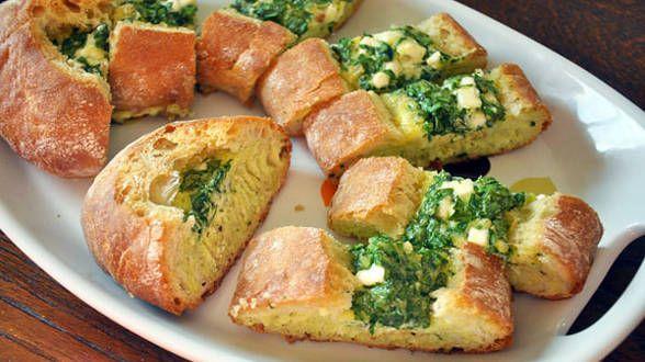 Spinach and Feta Quiche Bread