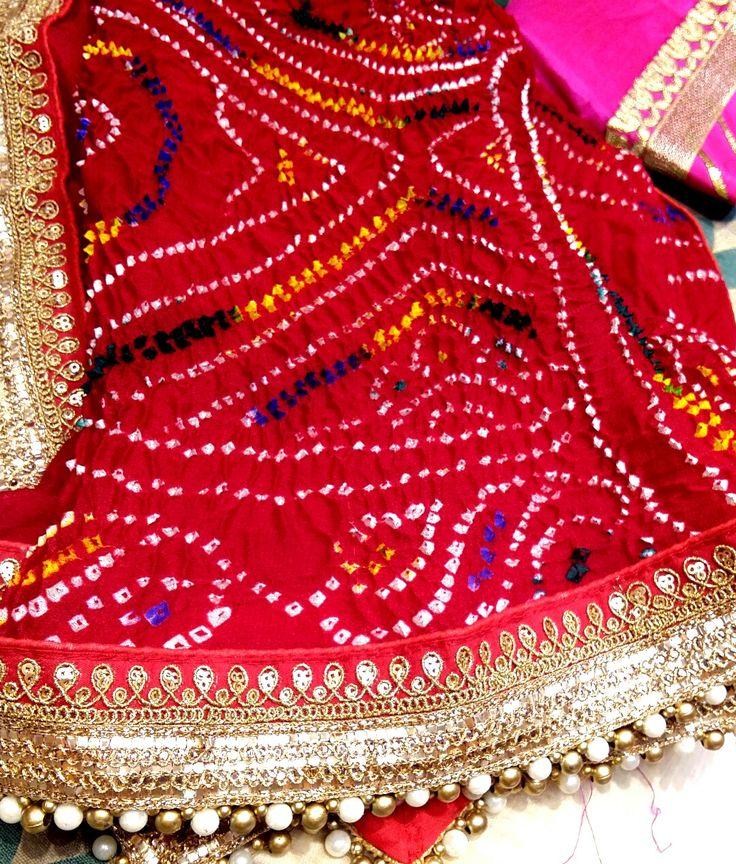 Traditional bandhani dupptas by Arainafabs mount abu ( 09983401578)