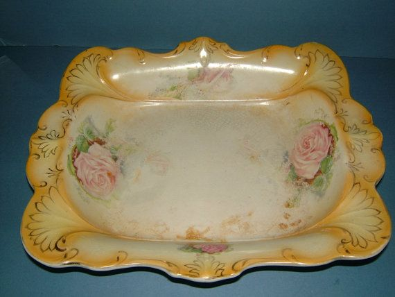 Victorian Art Nouveau Blush Ivory Large Platter  by BiminiCricket, $45.00