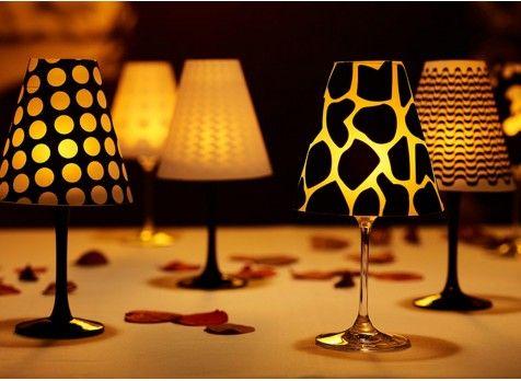 Abajururi creative pentru pahare de vin | Mindblower