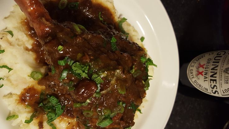 Guinness lamb shanks