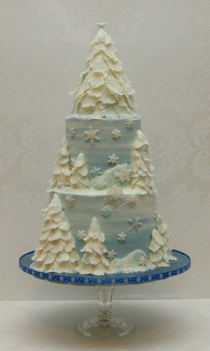 My Wintry Christmas Cake  Cake by madhousebakes
