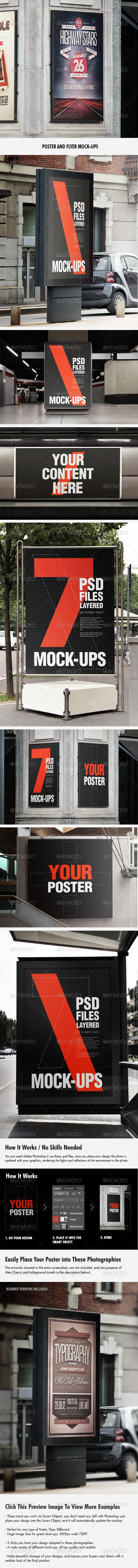 Flyer and Poster Urban Mock-ups - Set Pack by Giallo, $7 on Graphic River