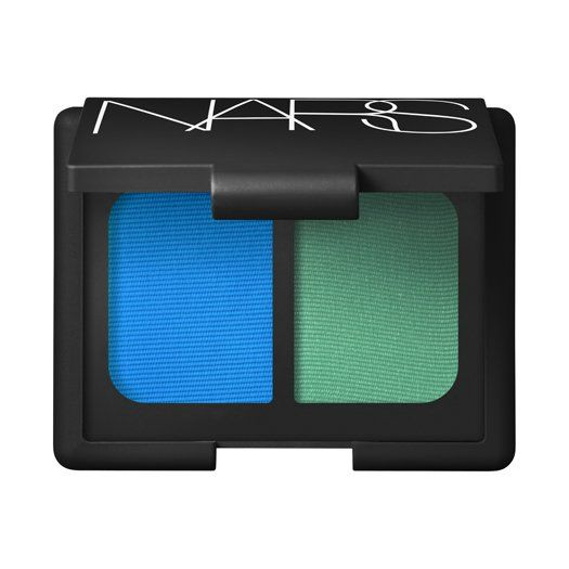 In need of a color boost? Mad Mad World Duo Eyeshadow's combination of cyan and parakeet green is a bold addition.