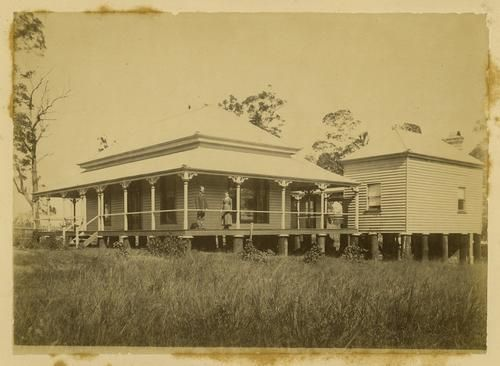 Side view of timber house on Rode Road, in the Brisbane suburb of Nundah by…