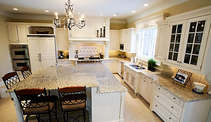 kitchen  Pinterest  Giallo Ornamental Granite, Granite and White