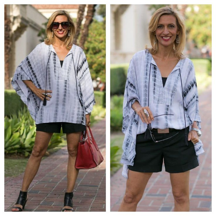Our Gray and Black Print Kaftan Top is on SALE for only $58.00 plus Free US Shipping - It's a great piece for summer get yours before they are gone! www.jacketsociety.com