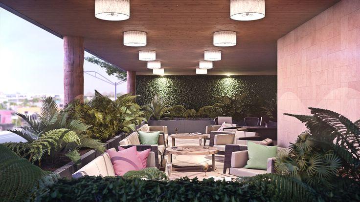 Render Interior Hotel - EVA3D