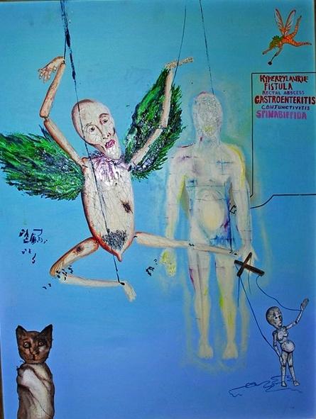 Kurt Cobain Art. Painted in 1993, during the recording of Nirvana's last studio album, In Utero.