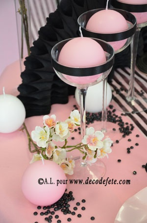 18 best images about deco table rose noire on pinterest for Deco table rose et noir