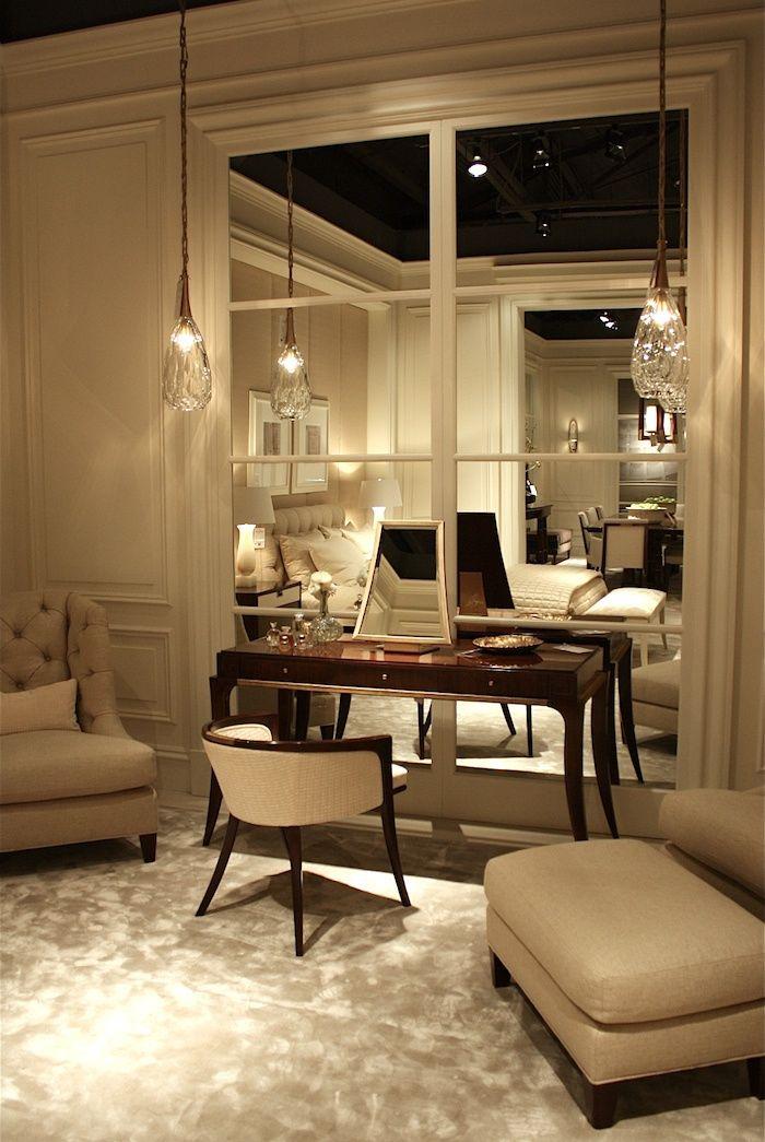 "Create ""windows"" with mirrors in a windowless room. (Like a basement. Laurel Bern"