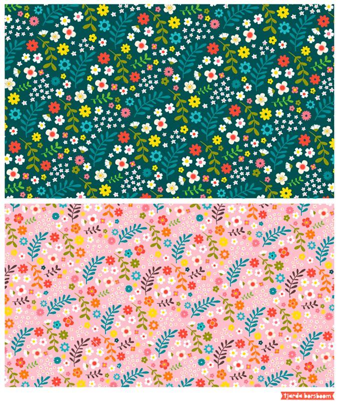 Pattern flowers by Tjarda Borsboom - www.zwiep.nu