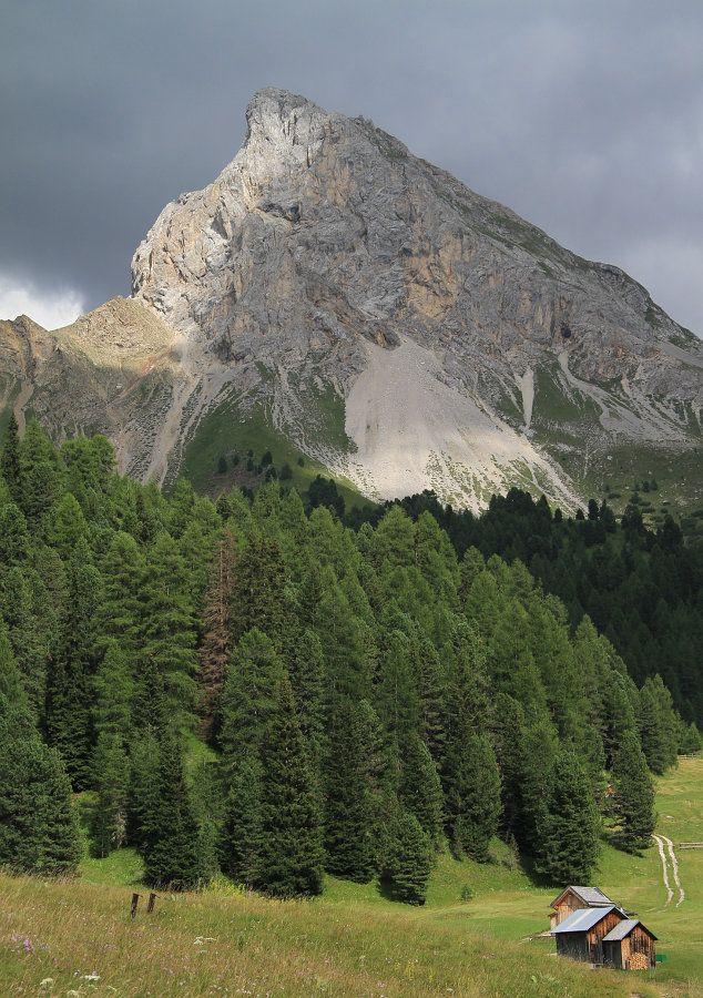 Dettaglio della Val San Nicolò nei pressi di Vigo di Fassa in Trentino