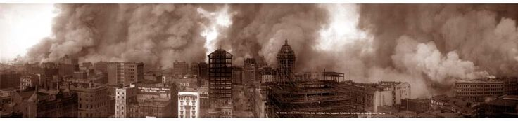 """Not in history has a modern imperial city been so completely destroyed. San Francisco is gone."" – Jack London after the 1906 earthquake and fire"