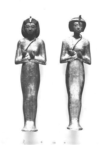 Ushebtis de Tutankhamon  Clasificación: Burton Photo. No. P1049  Fotografía: Harry Burton, 1922.  Griffith Institute, Ashmolean Museum, Oxford.