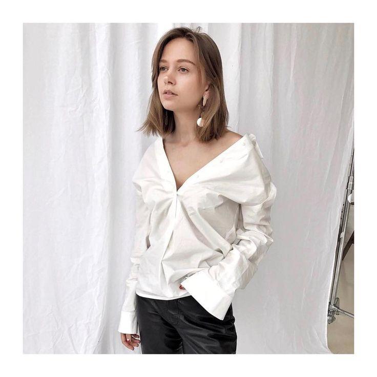 Хлопковая белая рубашка от Jana Segetti #janasegetti #fashion #style #look #white #russiandesigner