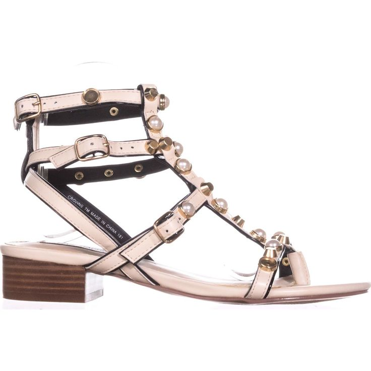 Steve Madden Crowne Flat Gladiator Sandals 268    #stevemadden #sandals #whitesandals #gladiator #gladiatorsandals #studs #pearls #shoes #shopping #style #trend #fashion #womensfashion #retail #love