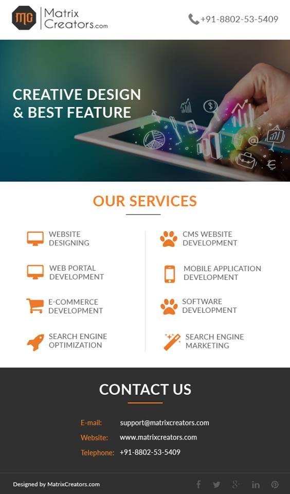 Website Designing Services - MatrixCreators is the Website Designing Company as well as a Web Development Company in Delhi.  Get professional Website Designing  Services and Website Development Services and SEO Services in Delhi with us.