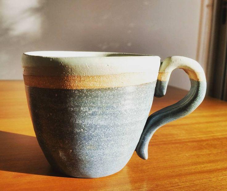 #ceramica #ceramics #mug #tea #pottery #love #clay #wheel #handmade #handmadeceramics #craft #Handthrown #Wheelthrown #Stoneware #Pottersofinstagram #mug
