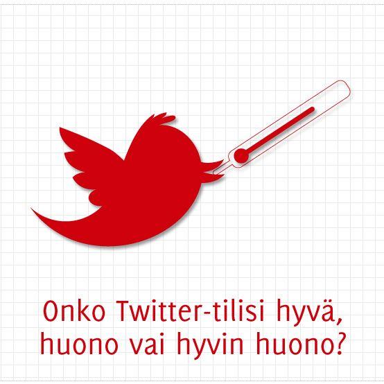 Onko Twitter-tilisi hyvä, huono vai hyvin huono?
