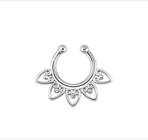 Unisex Punk não Piercing anel de nariz falso Stud Hoop 18 k ouro falso Piercing septo anéis de nariz 16 g indiano nariz anel piercings falsos em Jóias para corpo de Jóias no AliExpress.com   Alibaba Group