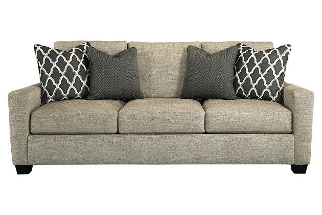 Ashley Crislyn Sofa...like the color, not the throw pillows. Loose back cushions and reversible seat cushions.