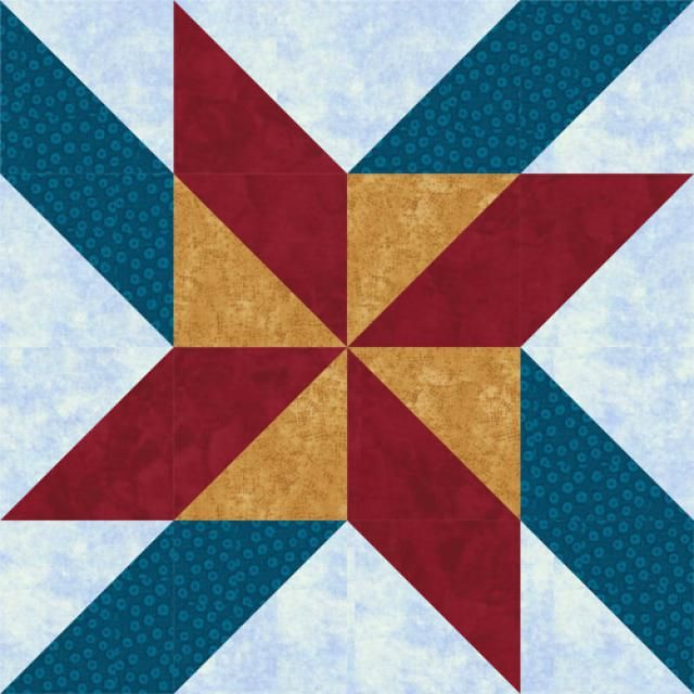 Try This Bold, Vibrant Mosaic Pinwheels Quilt Block Pattern The quilt block is assembled entirely with half-square triangle units - 8 x 8 and 24 x 24