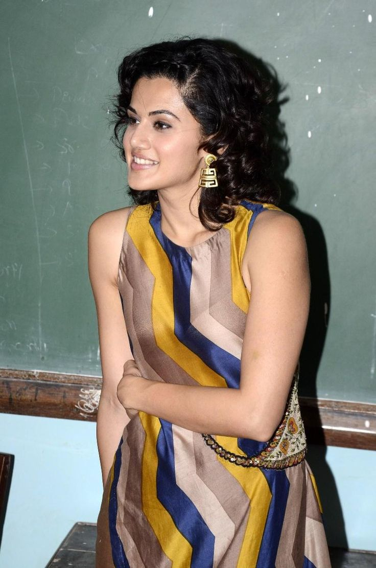 Taapsee Pannu at College Event In Yellow Dress