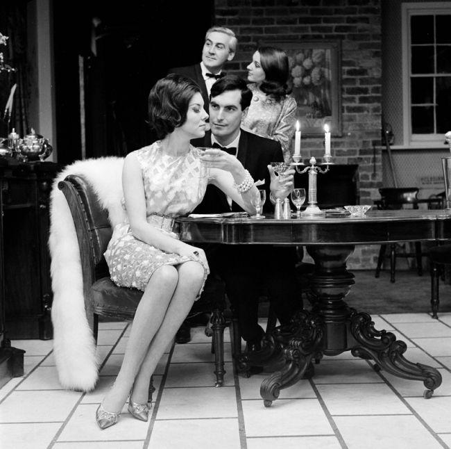 #Sixties | Walnut Tree restaurant, William Street, Melbourne Australia, 1962, with fashion photographer Bruno Benini standing; photo by Henry Talbot.