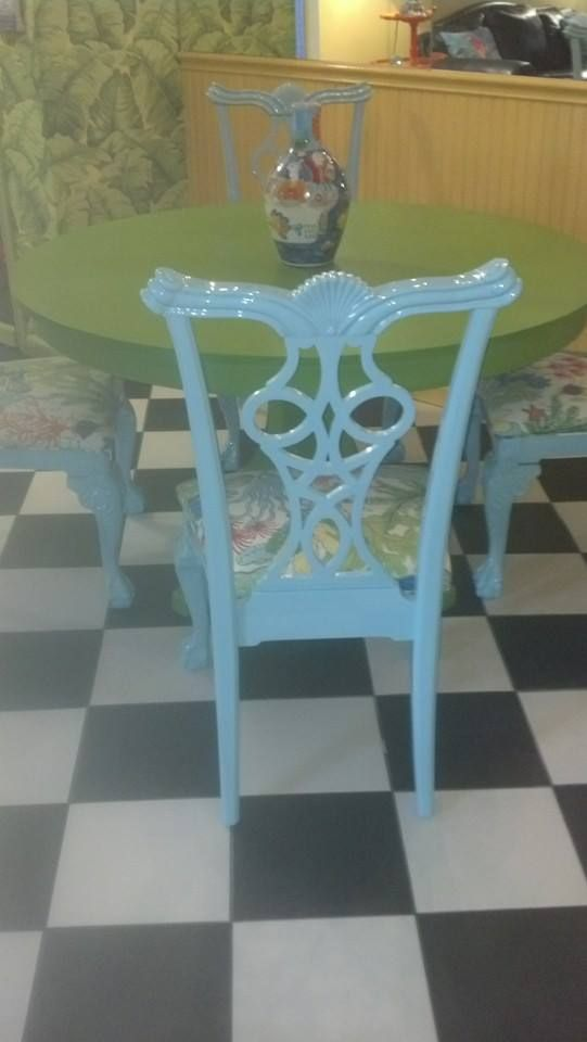 Hollandlac Brilliant, Fine Paints Of Europe, Blue Dining Room Chair,  Refinish Dining Room