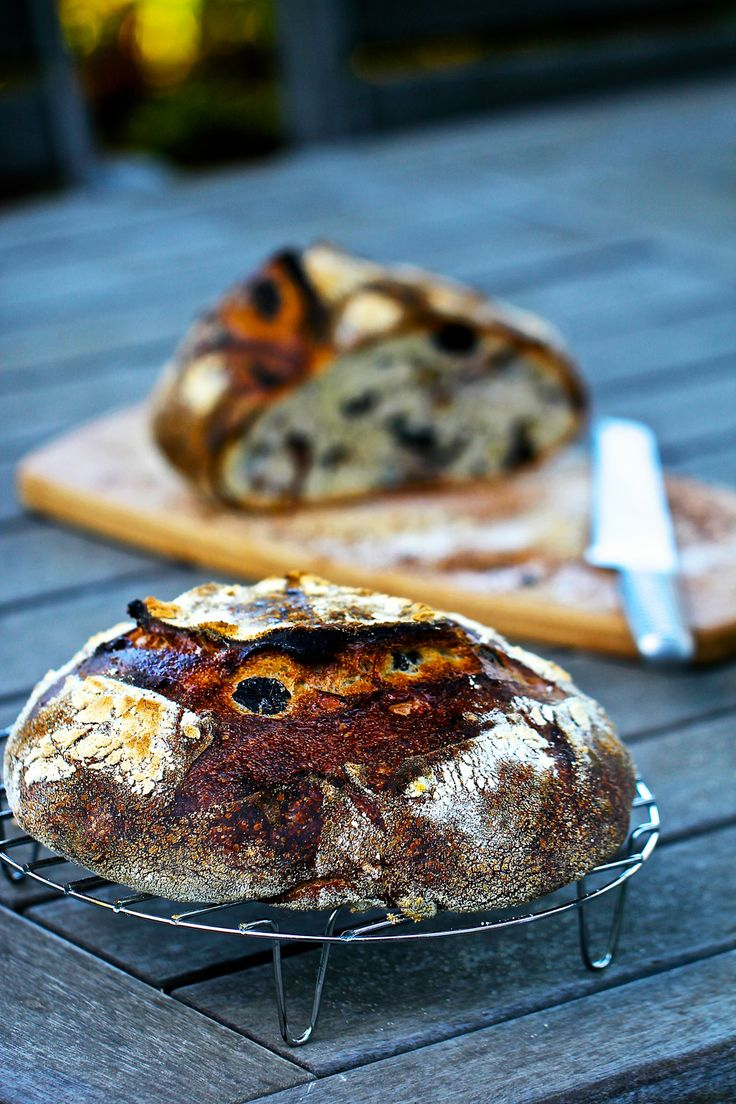 Olive and walnut country bread