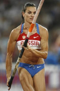 Yelena Isinbayeva - Russia~~~ #HolyMotherOfGod! what a Juicer. (she really is the best ever. Its a shame her record is tainted by Doping) Love her anyway.