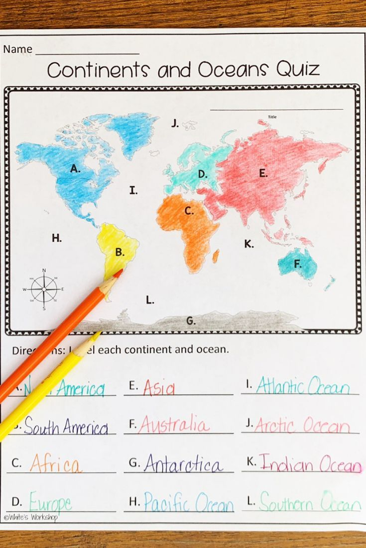 Continents And Oceans Map Skills Continents And Oceans Map Activities Map Skills