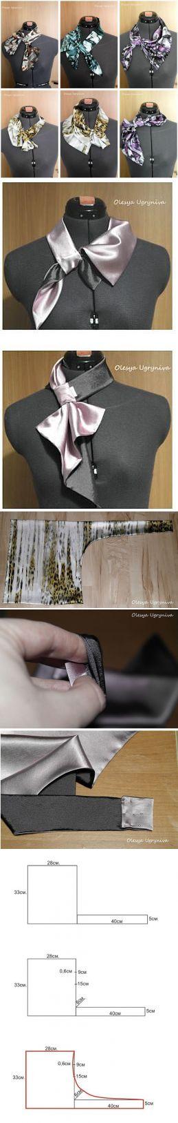 Выкройка французской косынки на шею