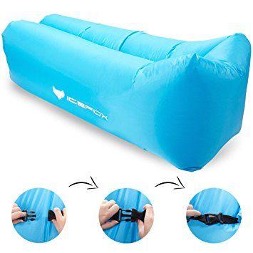 Canapé à Air, icefox Air Sofa Canapé gonflable imperméable à l'eau, canapé à air portable avec sac à main, sac de couchage à l'intérieur de l'air extérieur pour le repos   Camping   Beach   Fishing, ect