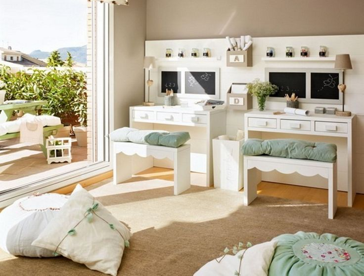 ΠΑΙΔΙΚΟ ΔΩΜΑΤΙΟ: Rooms Idea, Kids Bedrooms, Mint Green, Design Interiors, Soft Color, Study Rooms, Bedrooms Color, Kids Study, Kids Rooms