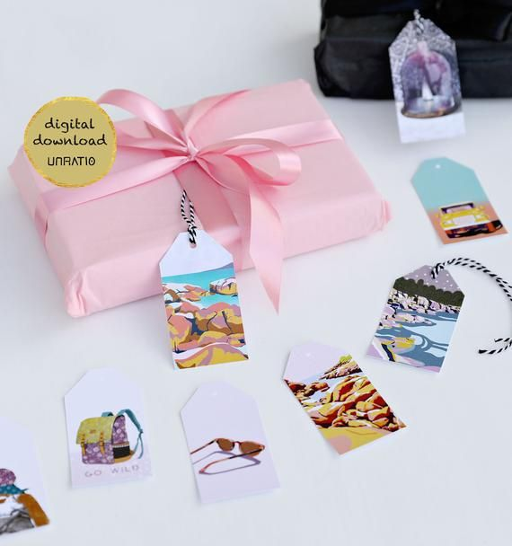 Pink Gift tags pack 10 card