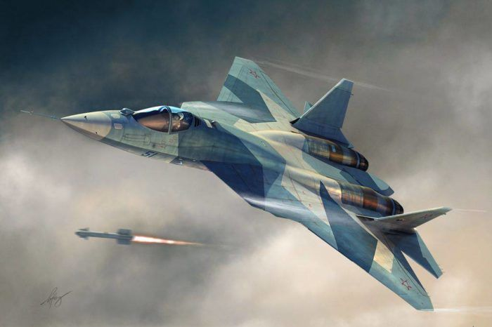 ПАК ФА Т-50 против F-22 Raptor. Виртуальный бой