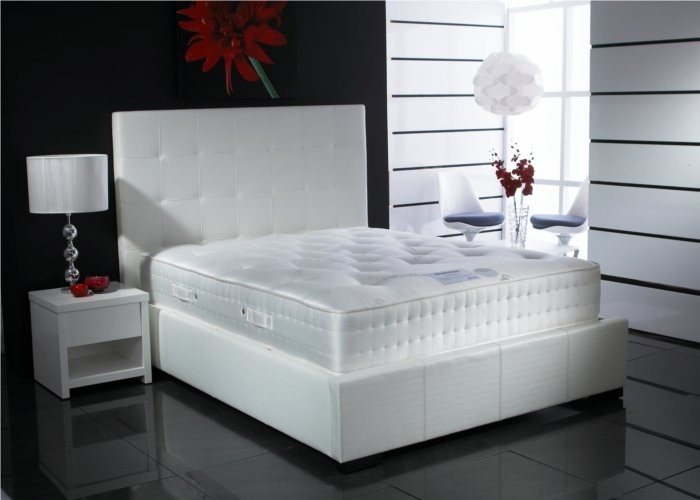 White Leather Bed My Next Purchase